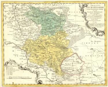 Tractvs Eichsfeldiae in suas Praefecturas divisae nec non Territorii Mvlhvsani Chorographia