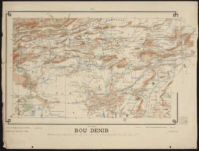 Carte générale du Maroc à l'échelle de 1 : 500 000 e. Bou Denib
