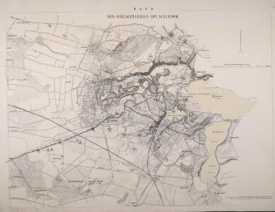 Plan des Schlachtfeldes von Schleswig