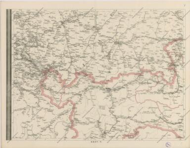 Post und Eisenbahnkarte der Österreichisch-Ungarischen Monarchie