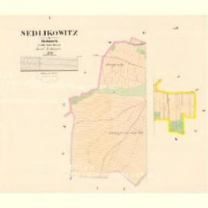 Sedlikowitz - c6799-1-001 - Kaiserpflichtexemplar der Landkarten des stabilen Katasters