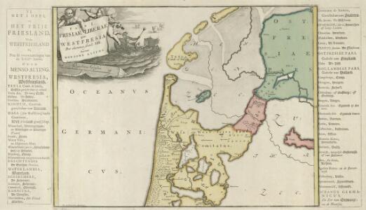 Pars I. Frisiae Liberae quae Westfresia Post eluviones seculi XIII.