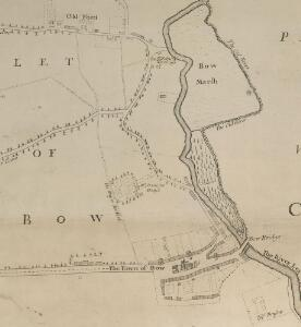 A New & Exact Plan of ye City of LONDON, detail showing Bow