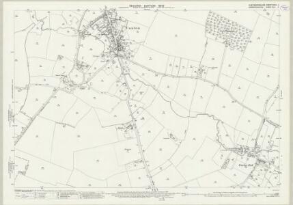 Huntingdonshire XXVIII.4 (includes: Bourn; Caxton; Great Gaddensden) - 25 Inch Map