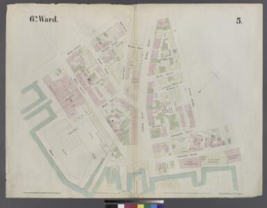 [Plate 5: Map bounded by East River, Main Street, York Street, James, Street, Market]