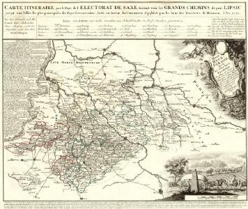Carte Itineraire par le Pays de l'Electorat de Saxe