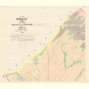 Odrau (Odry) - m2103-1-001 - Kaiserpflichtexemplar der Landkarten des stabilen Katasters