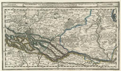 Hamburg mit dero Gegend Oostwerts bis Lauenburg Sampt denen in Gemeinschaft Lubeck besitzenden Vier Laendern.