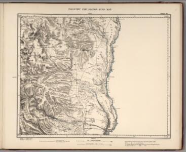 Sheet XV.  Palestine Exploration Map.