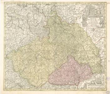 Mappa Geographica Regnum Bohemiae cum adiunctis Ducatu Silesiae, et Marchiontib Moraviae, et Lusitiae