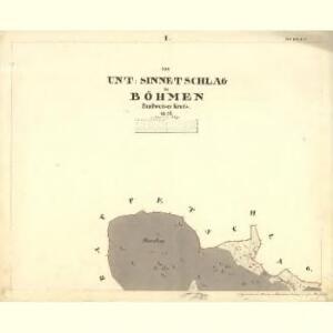 Unter Sinnetschlag - c1367-1-001 - Kaiserpflichtexemplar der Landkarten des stabilen Katasters