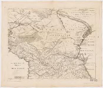 General Charte der Laender Zwischen dem Schwarzen und Caspischen Meere : Circassien, Georgien, Armenien, Wüste von Astrachan und Caucasus hauptsoechlich die Grosse und Kleine Kabarda