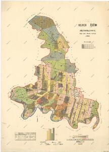 Porostní mapa polesí Čečín
