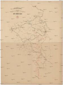 Přehlední mapa navržené české jího-západní-dráhy [sic]