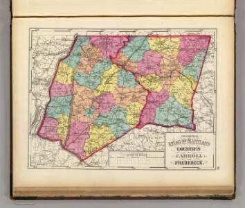 Topographical atlas of Maryland: counties of Carroll and Frederick.