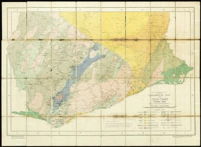 Geological Map of the Gold Coast. Southern Sheet. Showing Positions of Gold Mines and Prospects