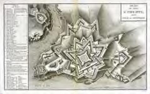 Plan du Fort St. Philippe, dans l'isle de Minorque