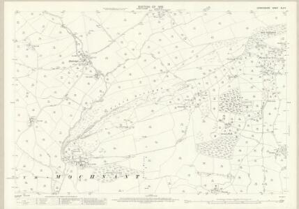 Denbighshire XLIV.5 (includes: Llangedwyn; Llanrhaeadr Ym Mochnant; Llansilin) - 25 Inch Map