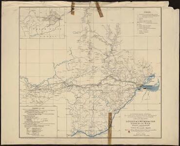 Région du chemin de fer Congo-océan (esquisse topographique). Feuille 1 : Brazzaville-Kimbédi