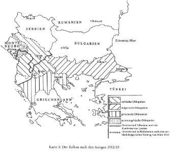 Der Balkan nach den Kriegen 1912/13