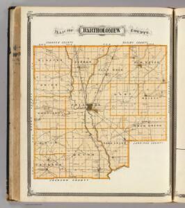 Map of Bartholomew County.