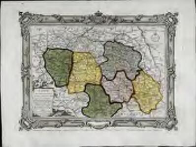 Carte des départemens de Paris, de la Seine et de l'Oise de la Marne de l'Aube, de la Haute Marne, et de la partie nord de celui d'Yonne