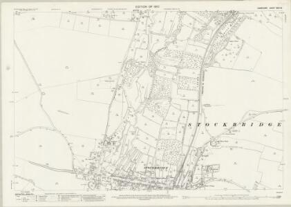 Hampshire and Isle of Wight XXXI.16 (includes: Houghton; Leckford; Longstock; Stockbridge) - 25 Inch Map