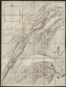 Carte de la Suisse Romande qui comprend le Pays de Vaud et le gouvernement d'Aigle, dépendant du canton de Berne