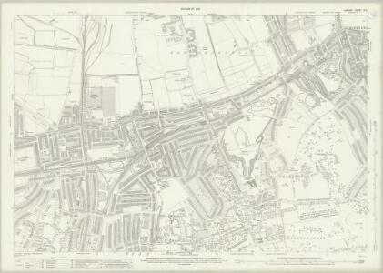 London (1915- Numbered sheets) X.2 (includes: Borough Of Greenwich) - 25 Inch Map