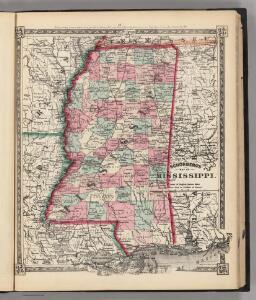 Schonberg's Map of Mississippi.