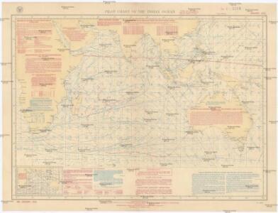 Pilot chart of the Indian Ocean