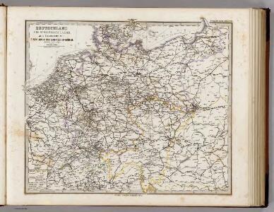 Deutschland Und Benachbarte Lander. Zur Ubersicht Der Eisenbahnen Und Dampfschiffahrten.