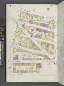 Brooklyn V. 9, Plate No. 19 [Map bounded by Willoughby Ave., Central Ave., Stockholm St., Evergreen Ave.]