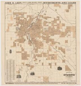 Rollandet's map of the city of Denver, Colorado