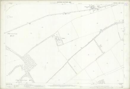 Hampshire and Isle of Wight XXII.12 (includes: Amport; Quarley; Shipton Bellinger; Thruxton) - 25 Inch Map