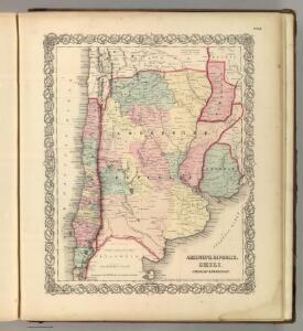 Argentine Republic, Chili, Uruguay & Paraguay.