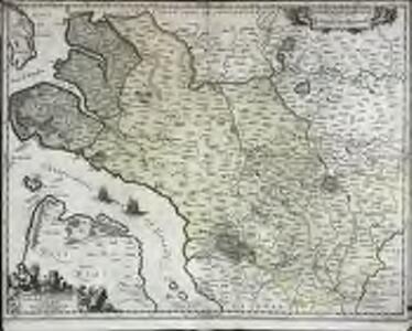 La Saintonge vers le midy auecq le Brovageais, terre d'Arvert [et]c