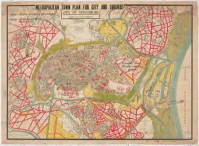 Plan der Stadt Strassburg : aufgestellt nach dem amtlichen Bebauungsplan