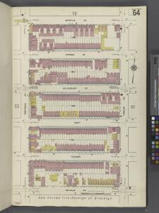 Brooklyn V. 3, Plate No. 64 [Map bounded by Myrtle Ave., Throop Ave., De Kalb Ave., Tompkins Ave.]