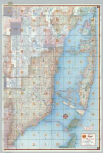 Shell Street Map of Miami and Miami Beach (eastern portion).