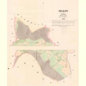 Misliw - c4919-1-001 - Kaiserpflichtexemplar der Landkarten des stabilen Katasters