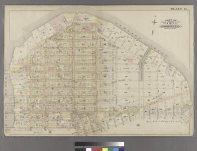 Plate 12: Bounded by Commercial Street (Newtown Creek), Ash Street, Paidge Avenue, Sutton Street, Calyer Street, Manhattan Avenue, Noble Street, West Street, Dupont Street and Franklin Street.