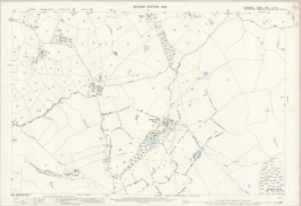 Cheshire LXVI.11 & LXVI.12 (includes: Buerton; Mucklestone; Norton in Hales; Woore) - 25 Inch Map