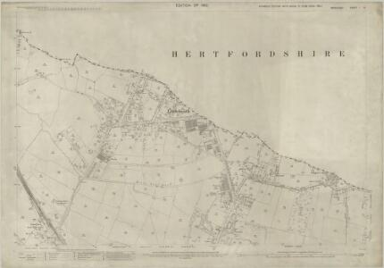 Middlesex I.8 (includes: North Mimms; Northaw; South Mimms) - 25 Inch Map