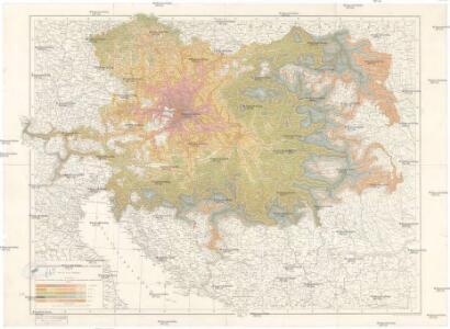 Isochronenkarte von Österreich-Ungarn