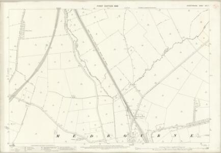 Leicestershire XLVI.7 (includes: Blaston; Hallaton; Medbourne; Slawston) - 25 Inch Map