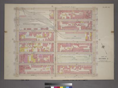 Plate 16, Part of Section 3: [Bounded by W. 32nd Street, Ninth Avenue, W. 26th Street and Eleventh Avenue.]