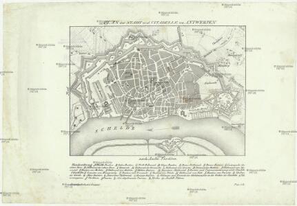 Plan der Stadt und Citadelle von Antwerpen