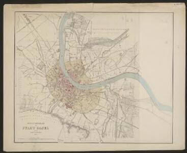 Situationsplan der Stadt Basel mit ihren Umgebungen