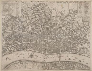 A New and Plaine Mapp of the CITTY of LONDON Shewing the Streets, Lanes, Allies, Courts, Churches Halls and other remarkable places as they are now rebuilt